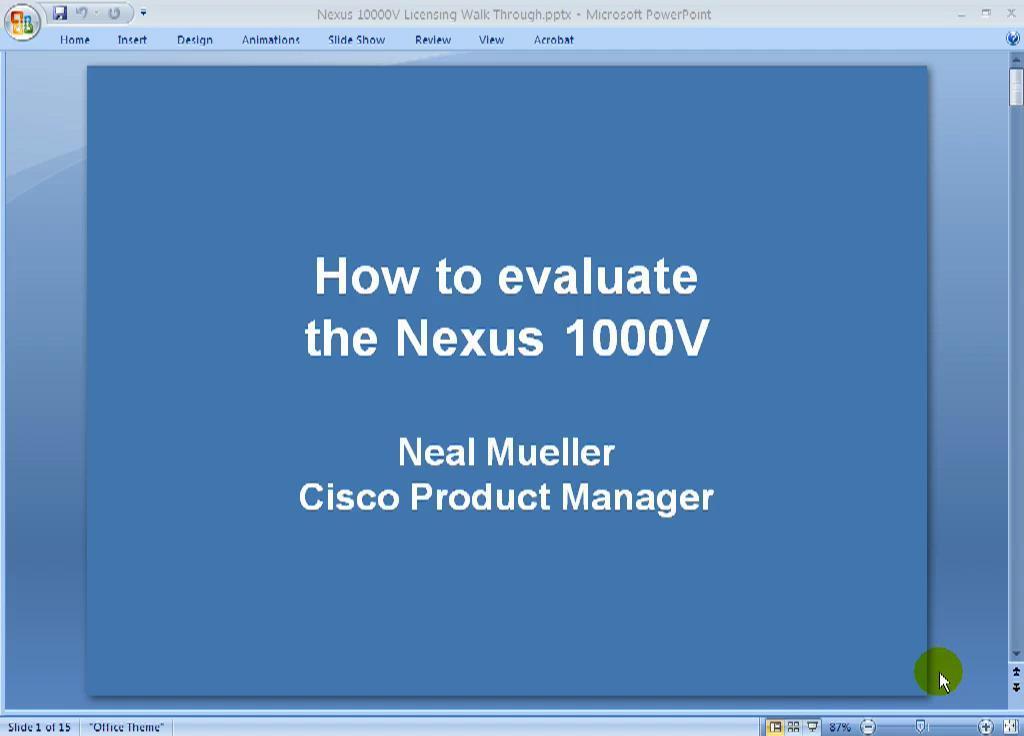 nexus 1000v evaluation license