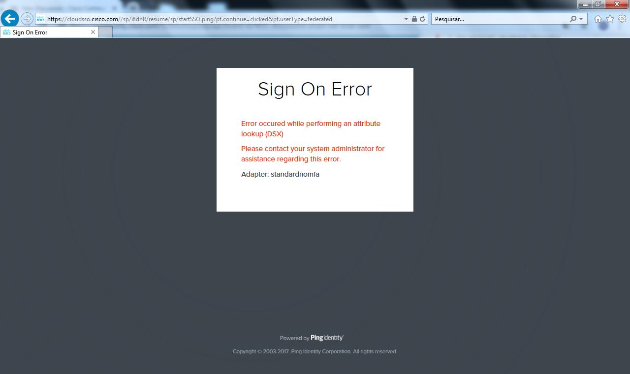 Error - CSAM login portal - Cisco Community