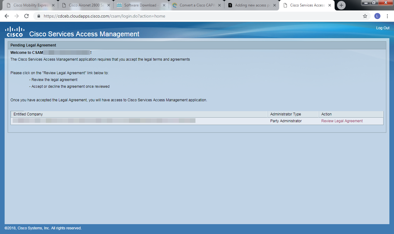 Solved: CBR Admin: Problems to login in CSAM po    - Cisco Community
