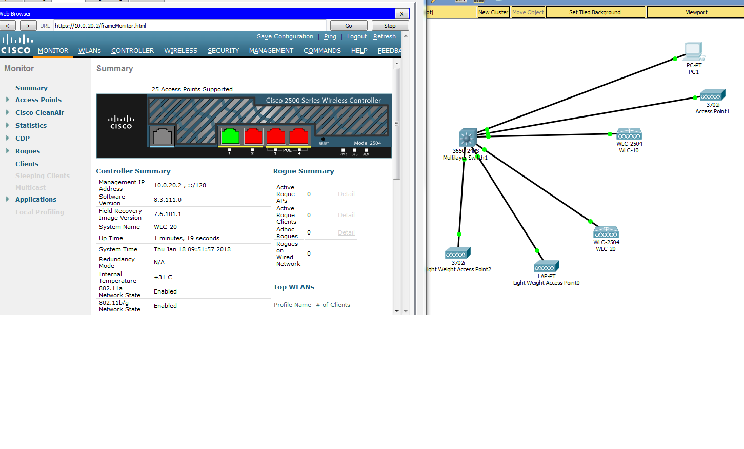 Solved Unable To Use Wlc 2504 In Packet Tracer Cisco Community Wi Fi Access Point Wiring Diagram Wireless Shot 98 Kb
