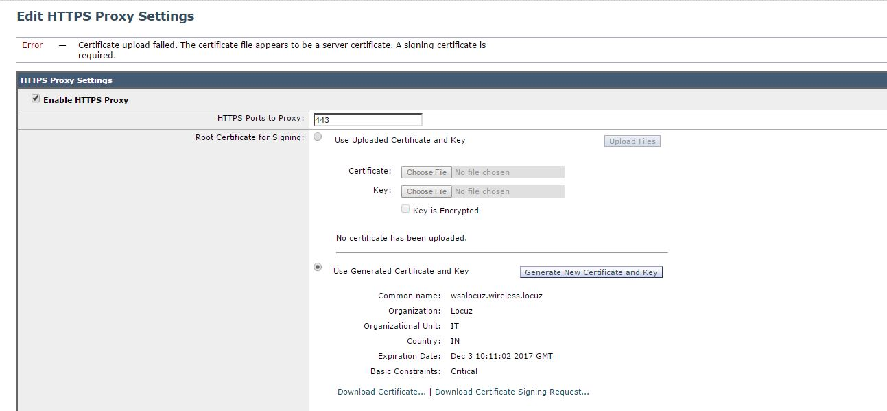 Solved: WSA HTTPS Identity Certificate Upload E    - Cisco Community