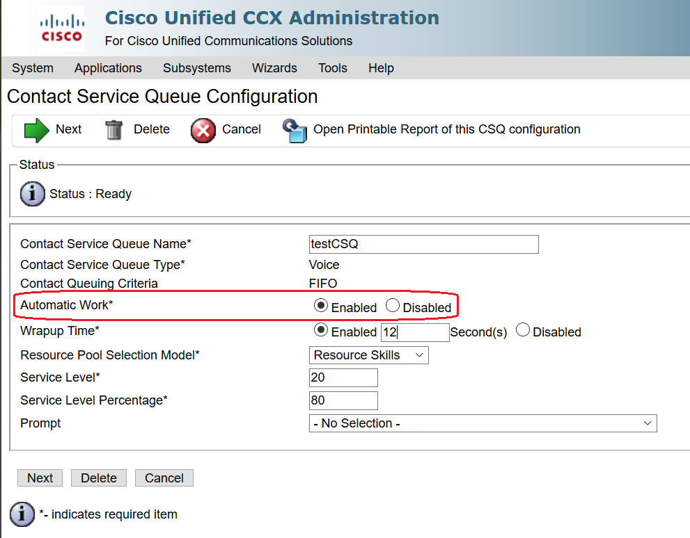 Not Ready work timer after outbound cal    - Cisco Community