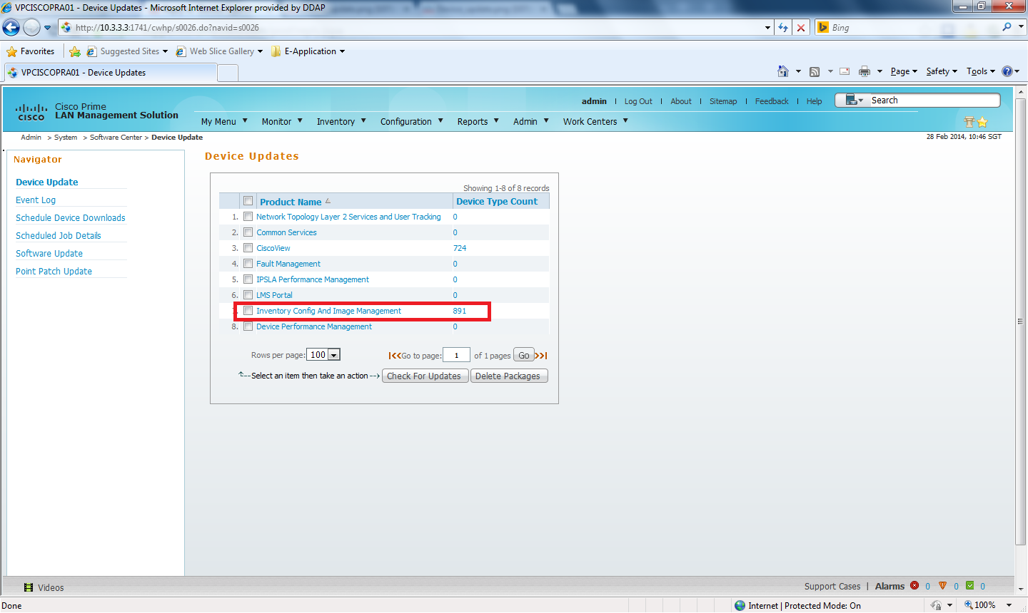 device type in cisco prime lms not avai cisco community