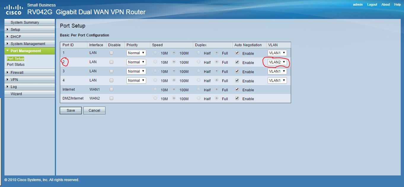 Solved: CISCO RV042G - Configuring subnets - Cisco Community