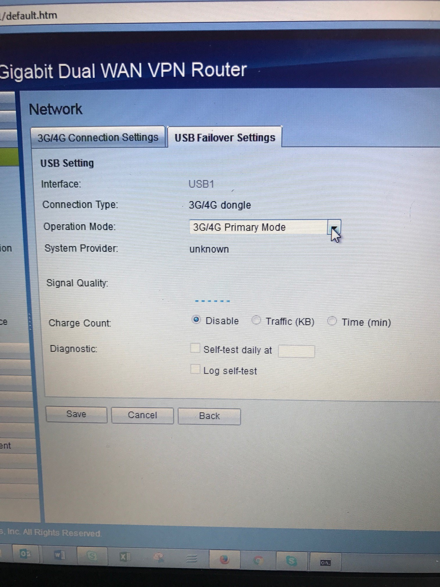 Cisco RV 320 not working with 4G dongle    - Cisco Community