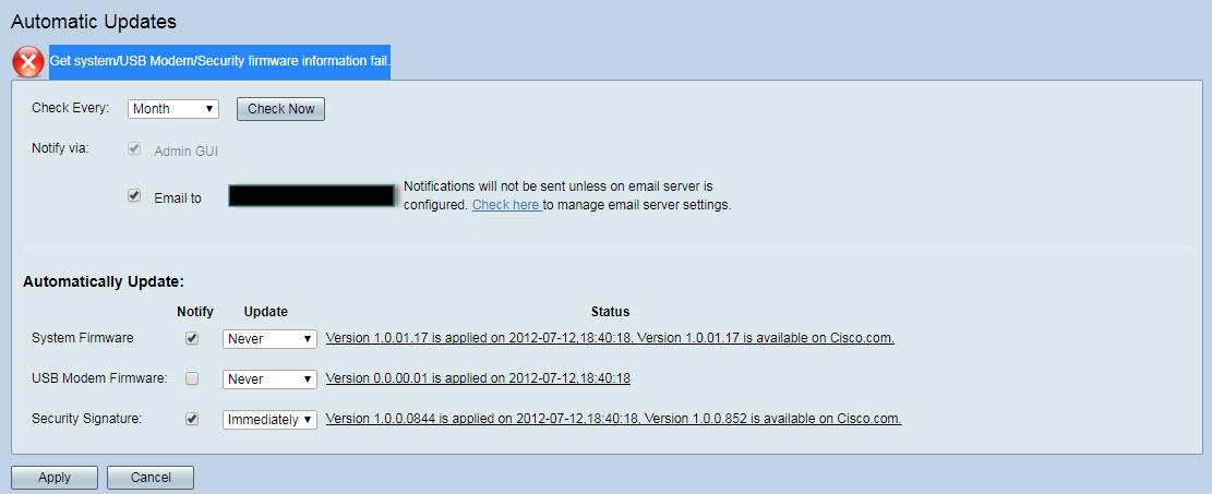 RV345 Automatic Updates Problem - Cisco Community