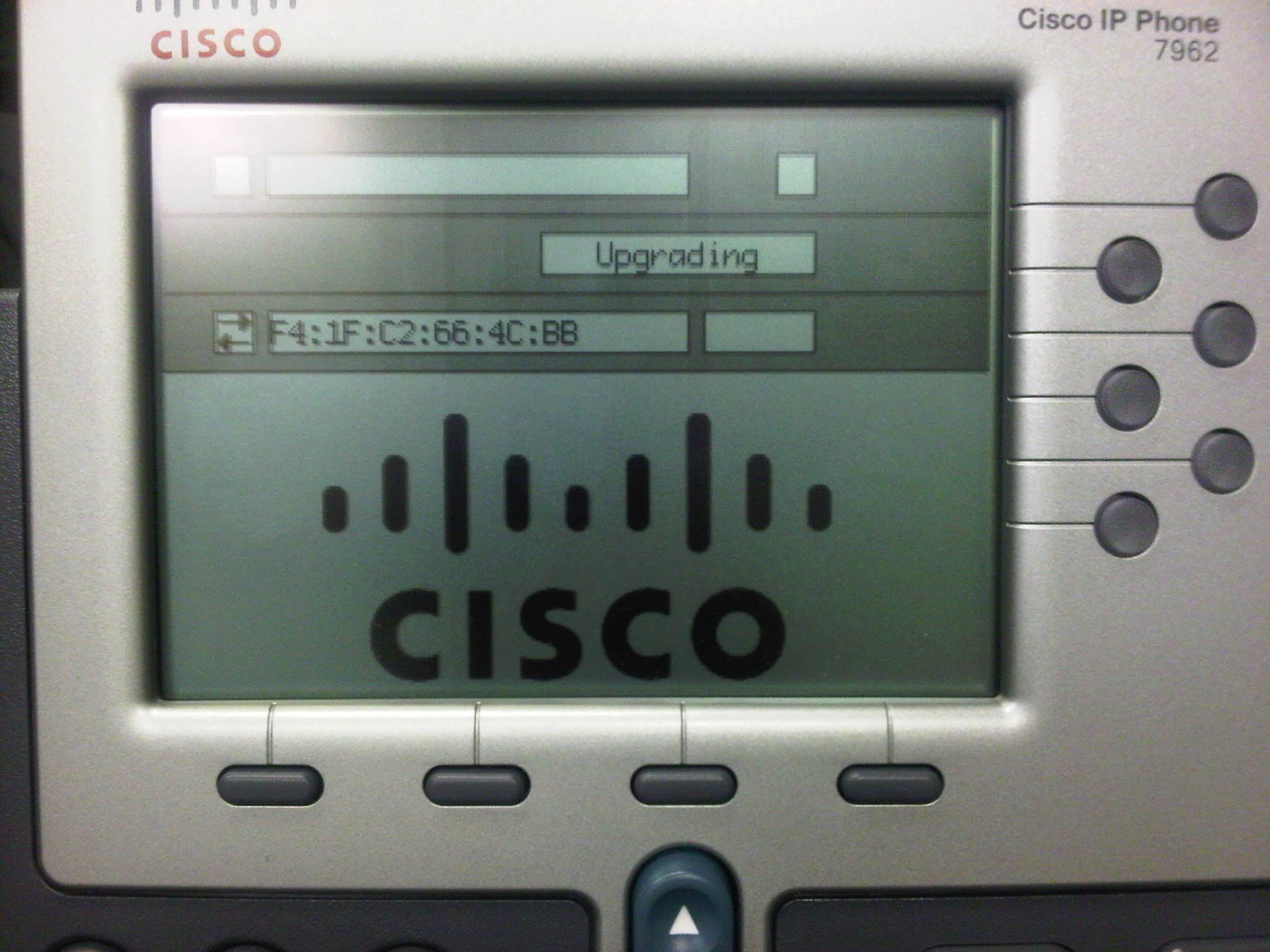 cisco ip phone 7962 firmware upgrade matrix