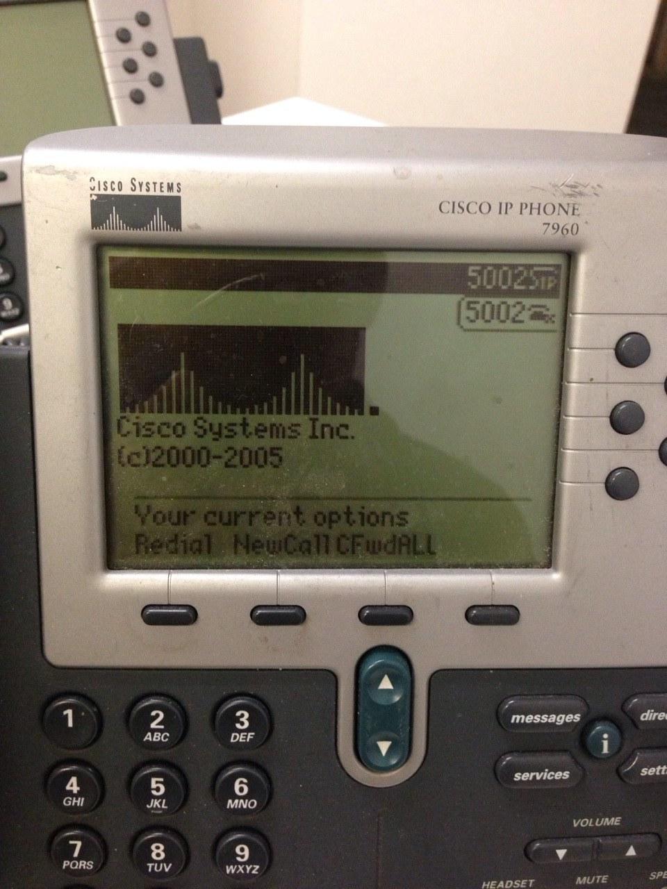 Cisco 7960 IP Phone not registering wit    - Cisco Community