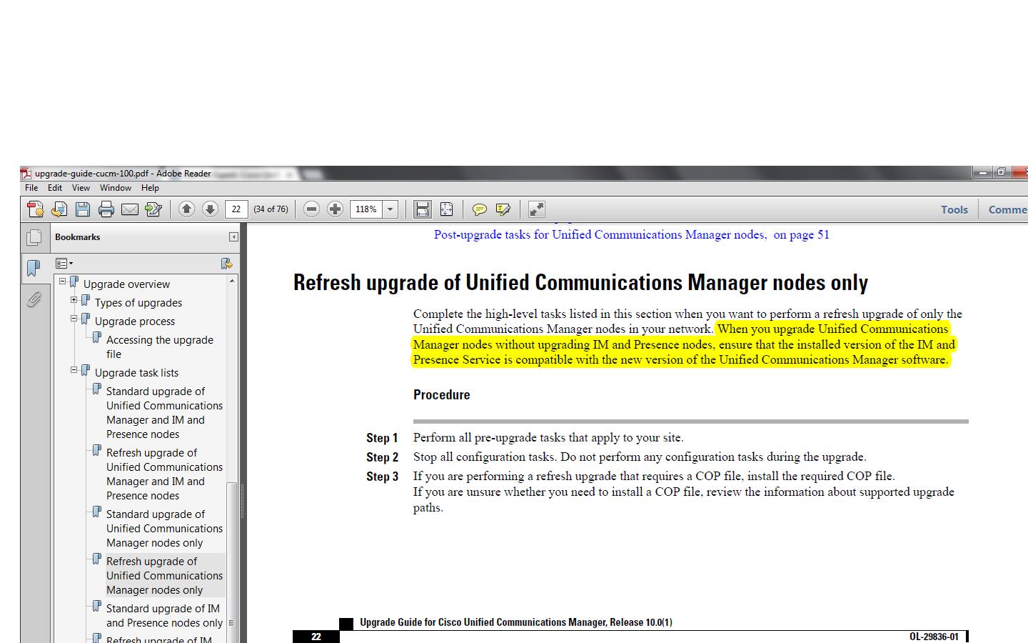 Solved: Migrating from CUCM 8 6 to CUCM 10 0 -     - Cisco