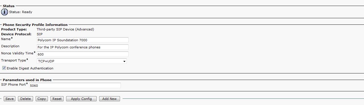 Solved: SIP Polycom Conference Phone Registrati    - Cisco