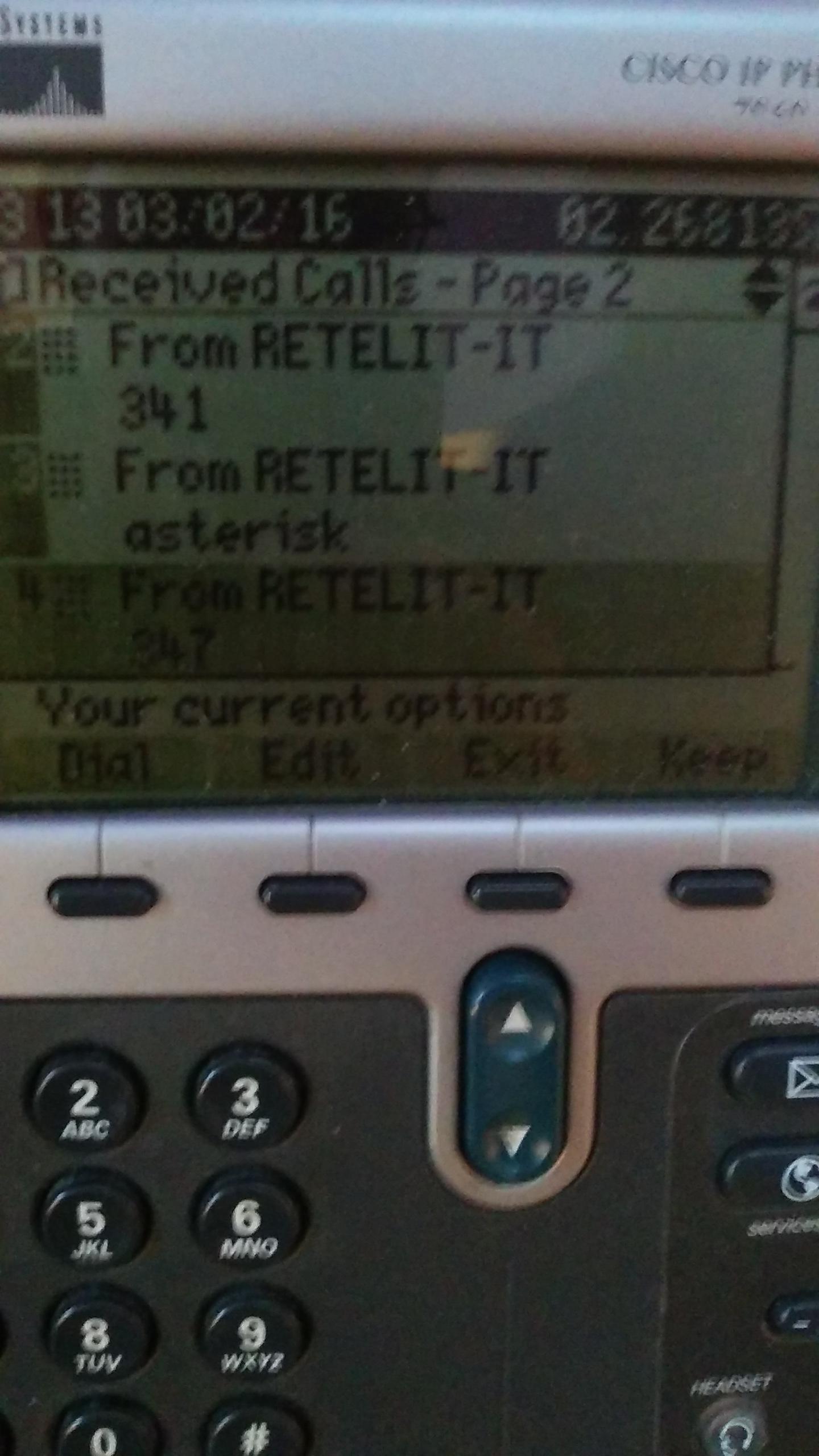 Ip Phone 7821 - Recents/Receive Calls D    - Cisco Community