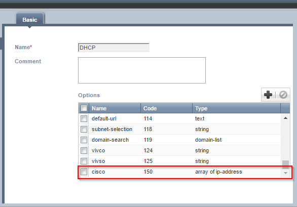 Madison : Dhcp cisco option 66