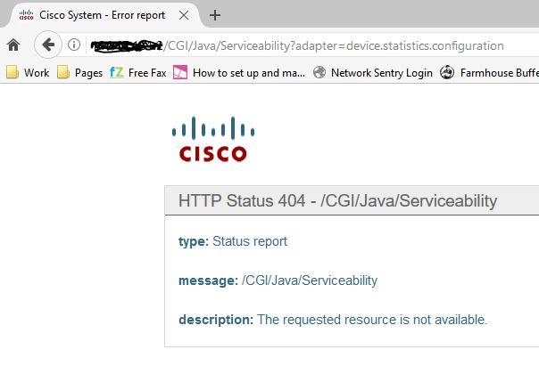 CUCM 8 03a HTTP Error [404]! when DIREC    - Cisco Community