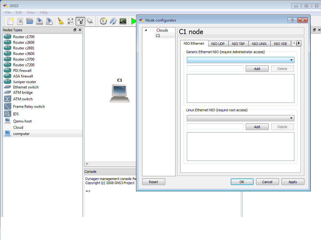 problem in gns3 - Cisco Community