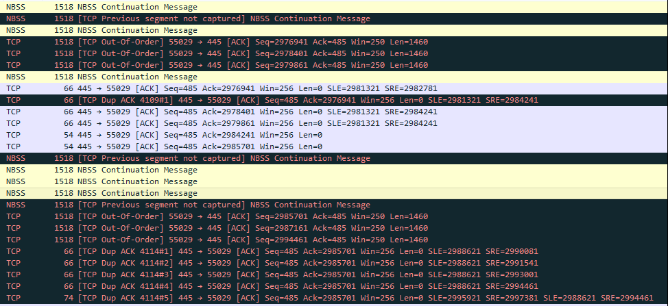 TCP Out-of-Order] and [TCP Dup ACK] -     - Cisco Community
