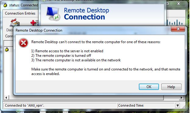 Solved: Unable to connect Remote Desktop when C    - Cisco