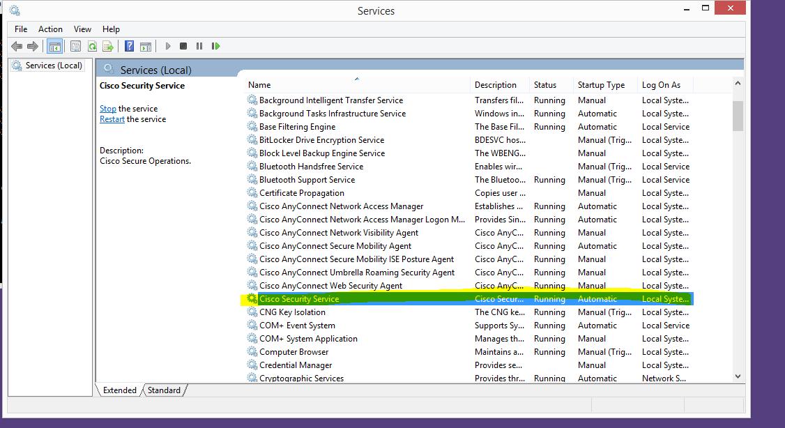 VPN Agent Service not responding? - Cisco Community