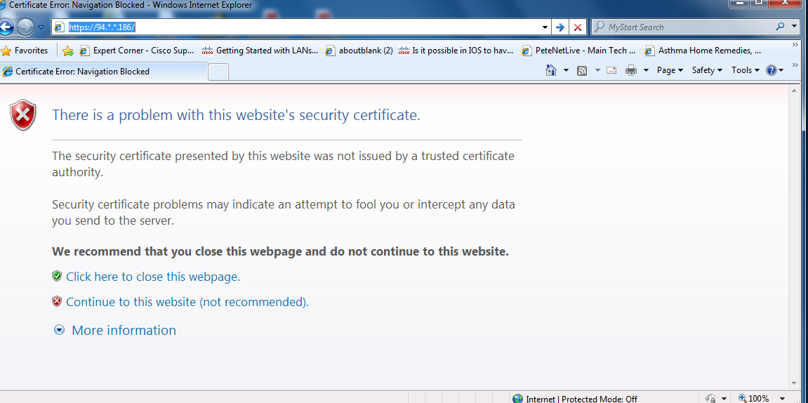 Solved: Certificate error - Cisco Support Community