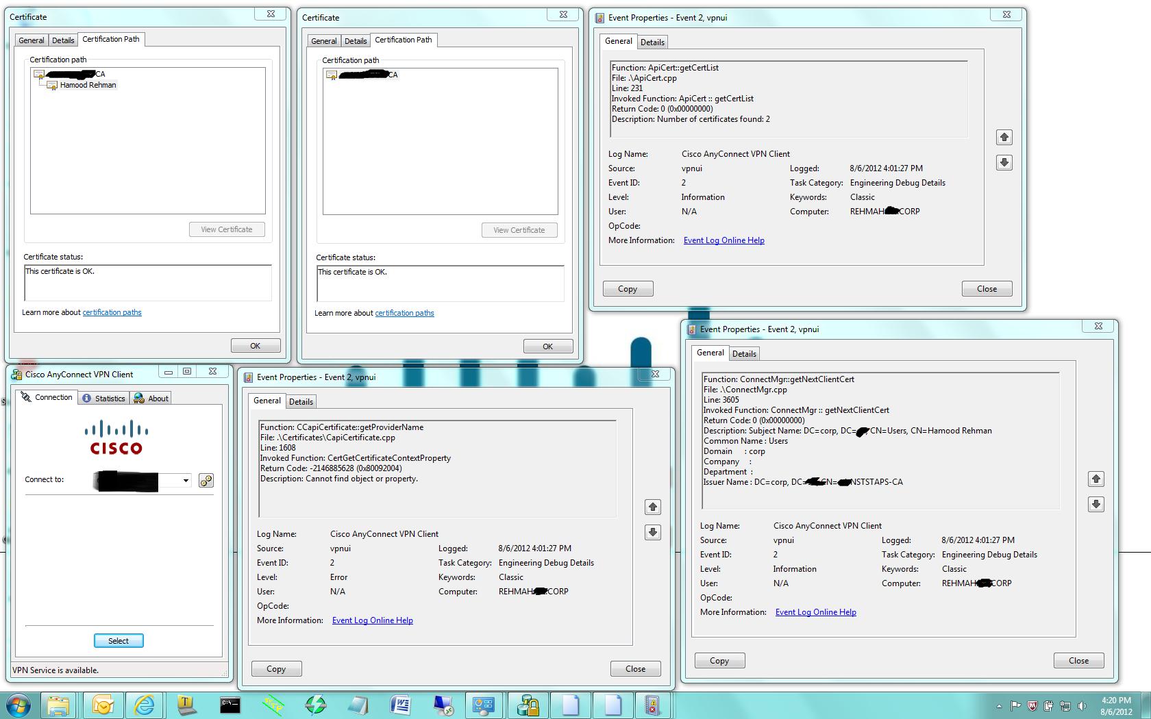 Solved Ssl Vpn Certificate Authentication Cisco Community