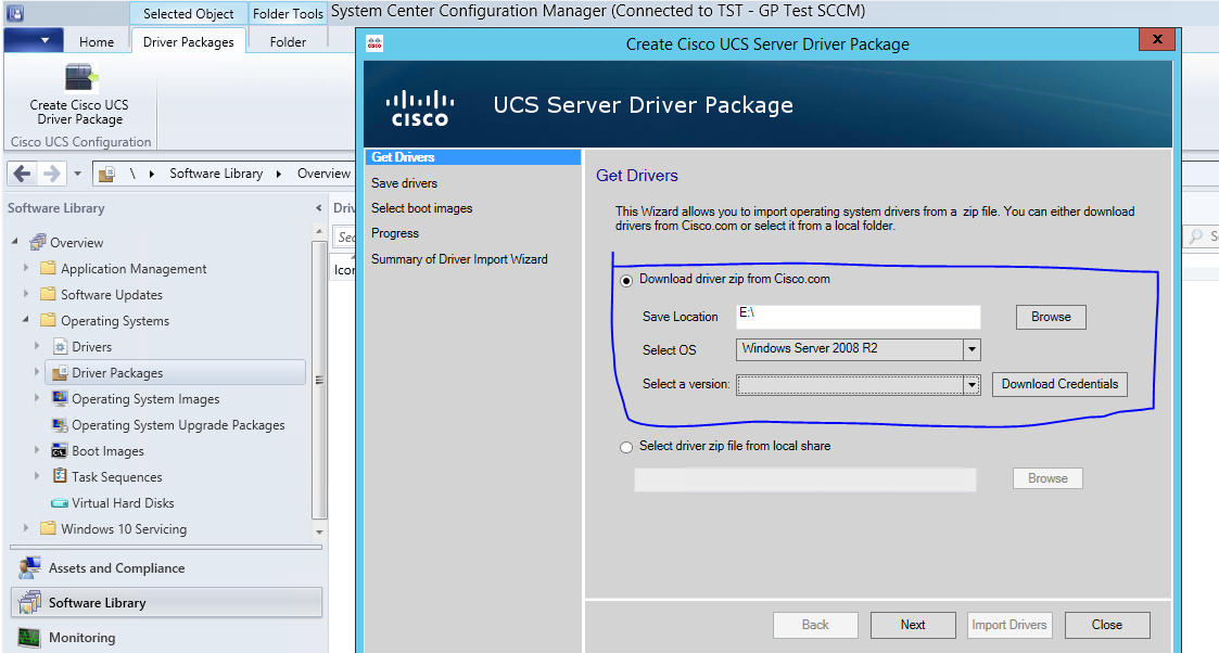 Issue while Importing Driver Packages i    - Cisco Community