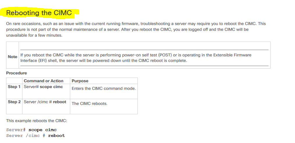 CIMC REBOOT - Cisco Community
