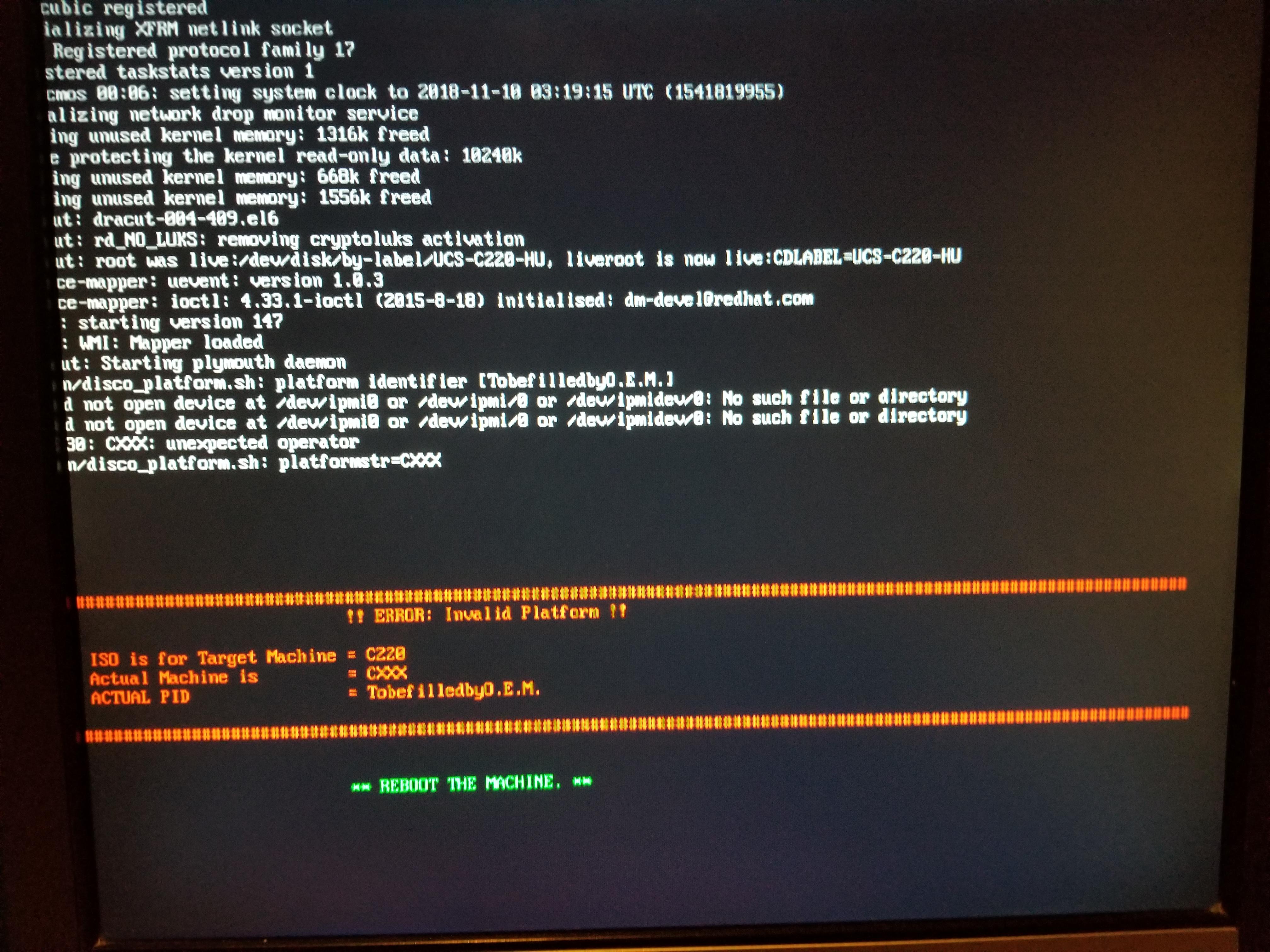 C220 M3 no CIMC, BMC Failed, IPMI error    - Cisco Community