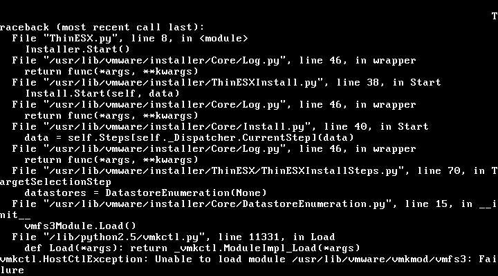 Solved: Failed ESXi install on UCS B200M2 - Cisco Community