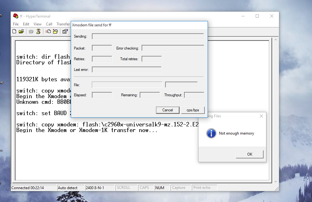 Problem uploading ios into 2960x switch    - Cisco Community
