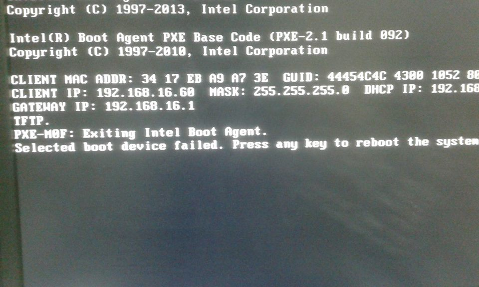 Boot from Network no working , with cis    - Cisco Community