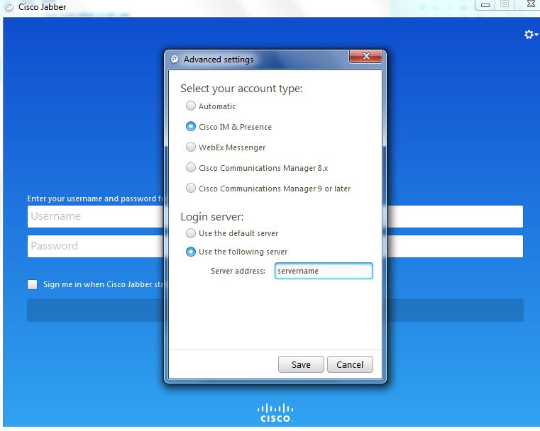change of cisco jabber client login ser    - Cisco Community