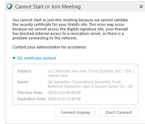 Webex meeting cannot start or Join with    - Cisco Community