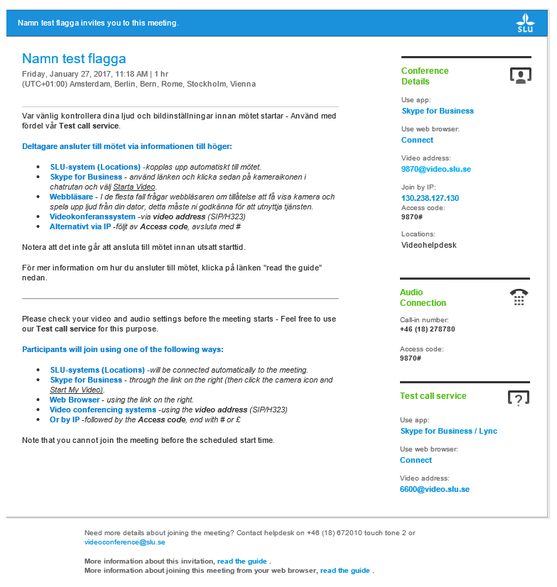 Solved Tms Conference Invite Template Cisco Community