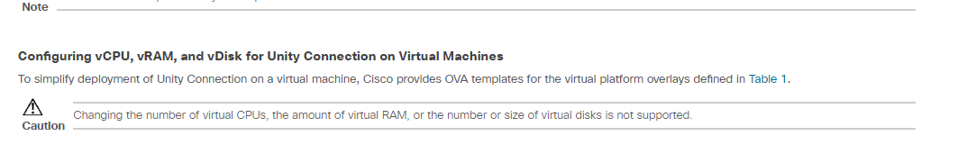 Solved: Re: Increase VM resource to Unity Conn    - Cisco