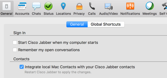 Jabber MAC Outlook integration - Cisco Community