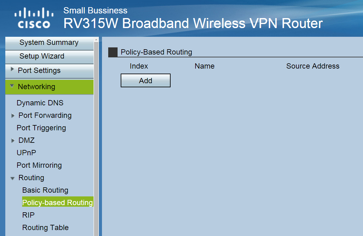RV series Router for Policy-Based Routi    - Cisco Community
