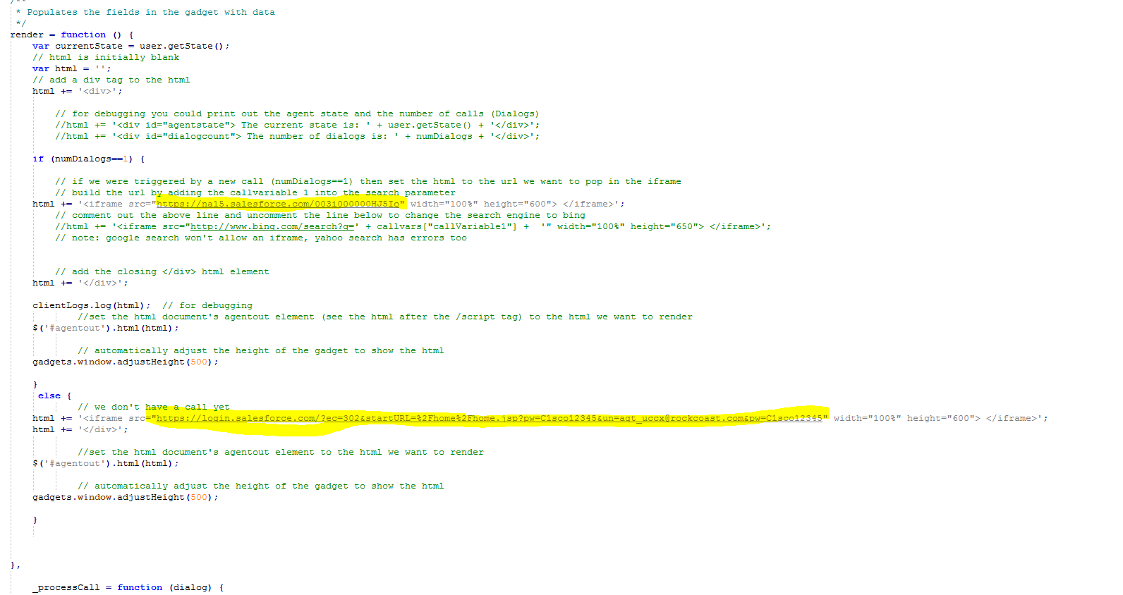 Solved: finesse 10 6 salesforce gadget - Cisco Community