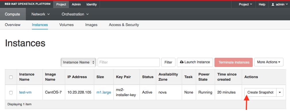 How to snapshot an OpenStack nova insta    - Cisco Community