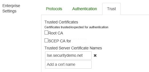 Solved: EAP certificate - not trusted by