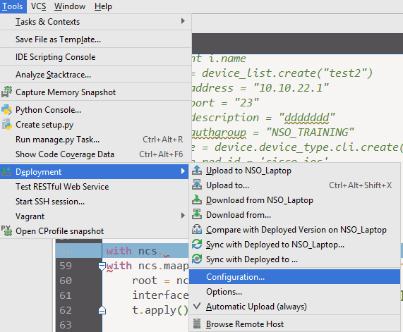Integrate NSO Python with PyCharm - Cisco Community