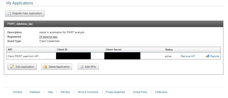 Solved: Cisco PSIRT openVuln API oauth2 Token