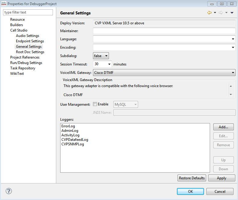 Call Studio 11 Debugger error - Cisco Community