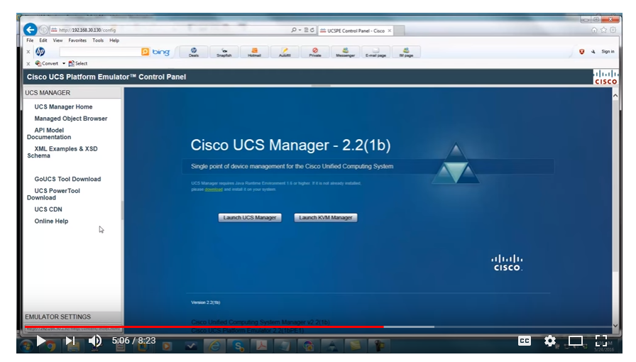 Solved: UCS Emulator installed     now what ? - Cisco Community