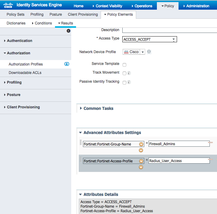 Solved: Fortigate authorization with ISE - Cisco Community