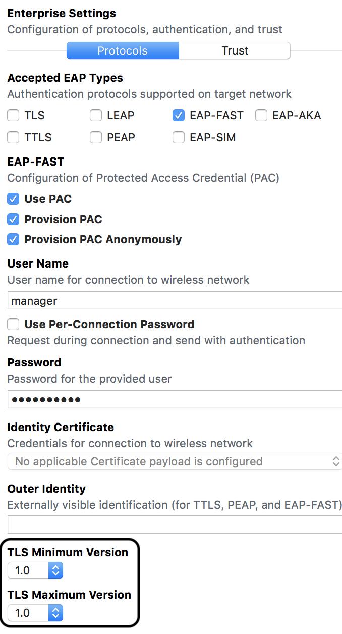 Solved: ISE 2 0+ EAP-FASTv2 & OSX High Sierra I    - Cisco Community