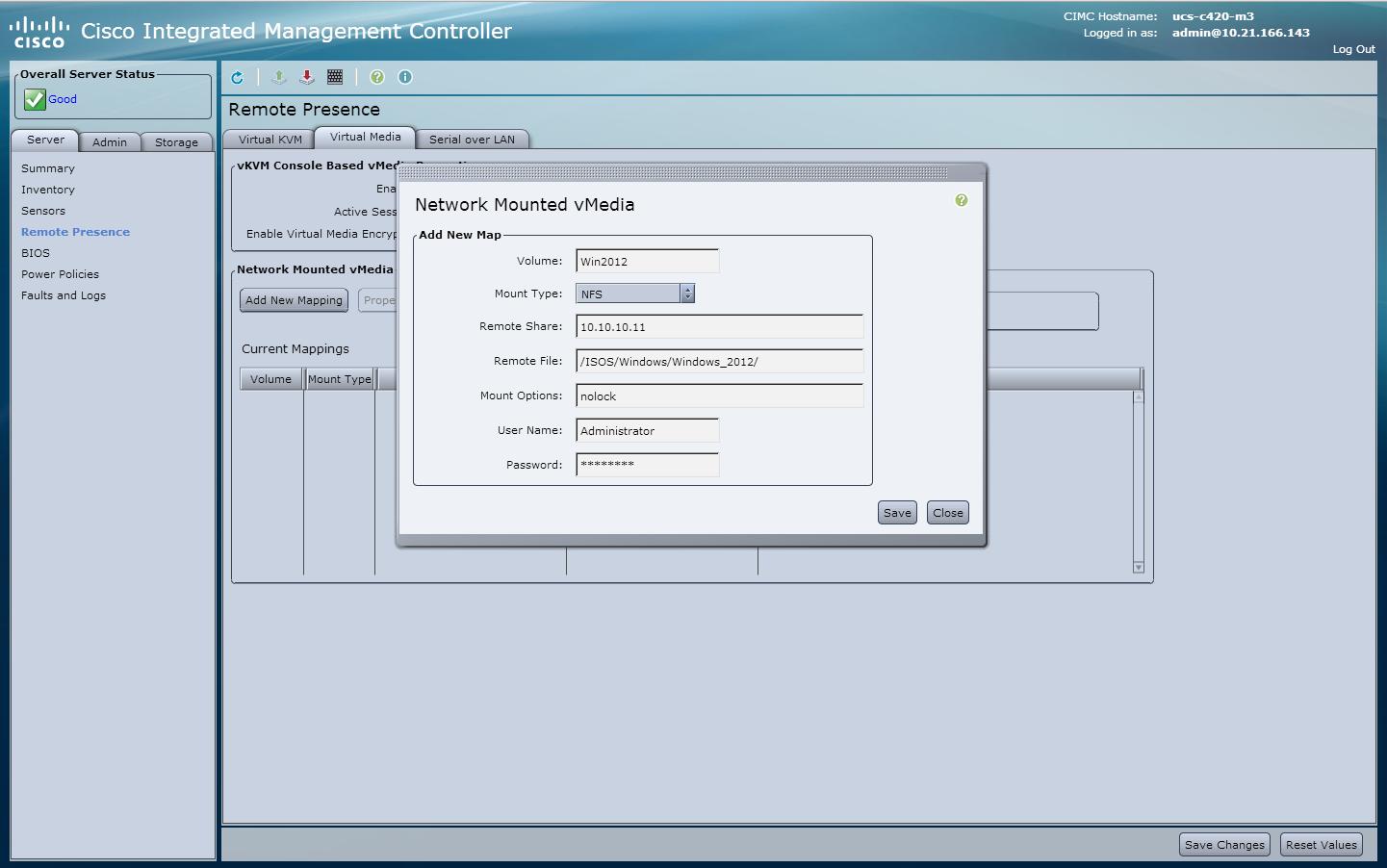 Using CIMC Mounted vMedia - Cisco Community