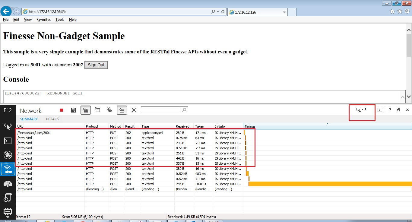HTTP Bosh Bind Error 400 - Non gadget i    - Cisco Community
