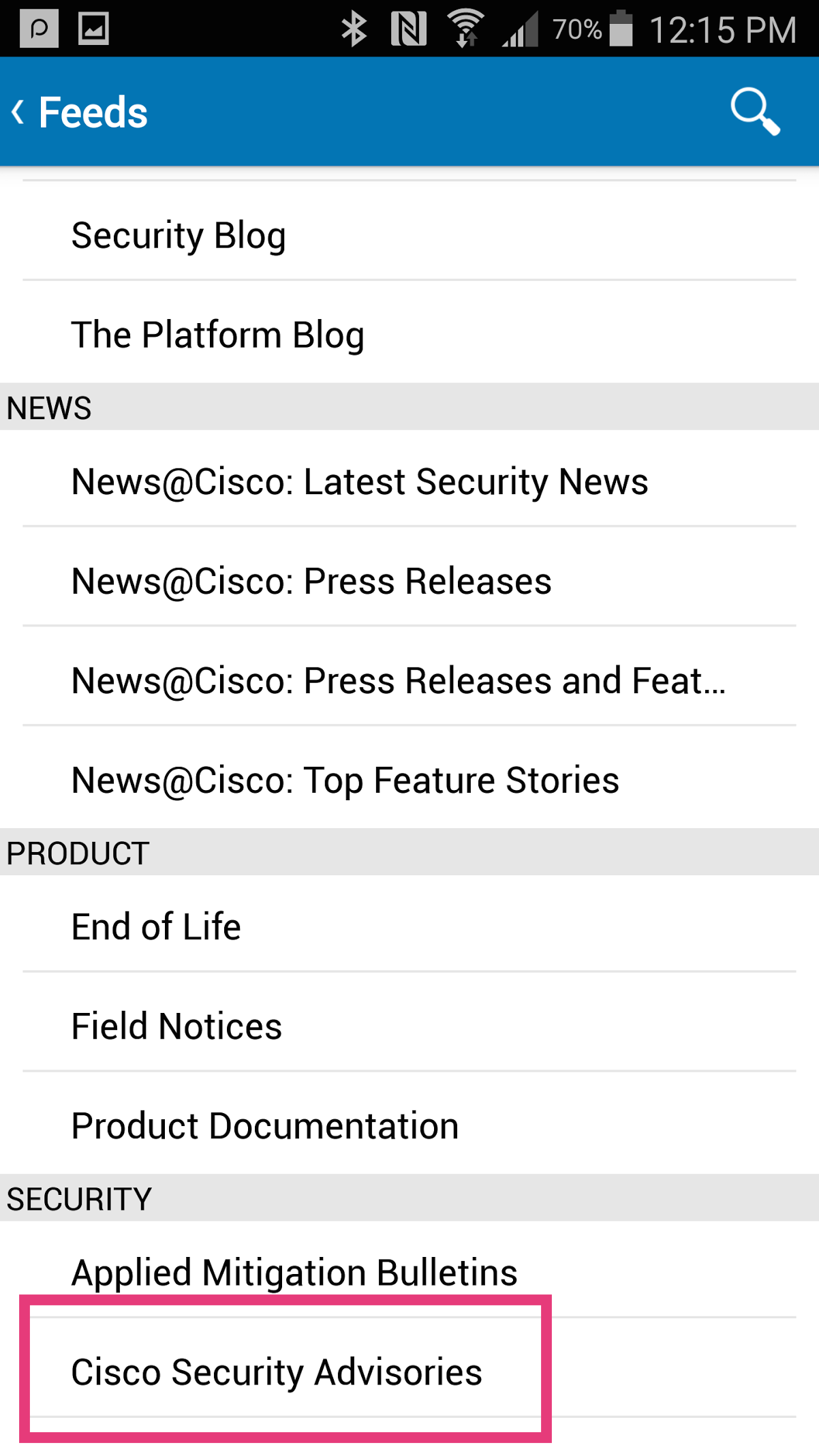 Keeping Up to Date by Receiving Securit    - Cisco Community