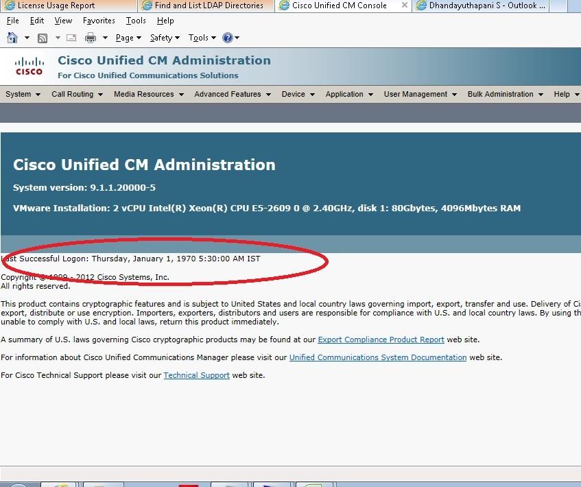 CUCM 9.1 last login message error   IP Telephony   Cisco ...