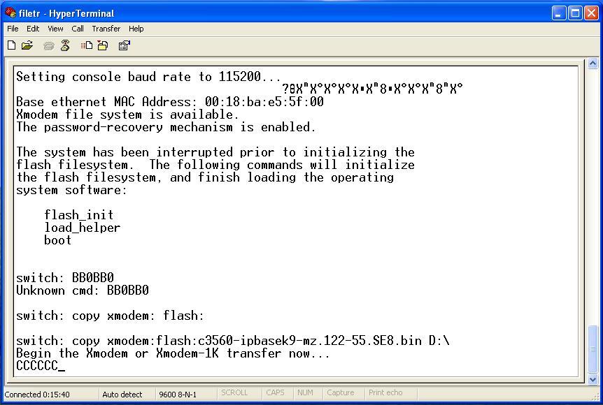 Fail to recover the cisco ios 3560 | Network Management | Cisco ...