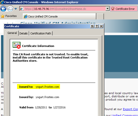 CUCM Certificate - Cisco Community